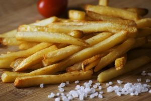 French fries, salt & flavonoids